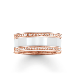 """band ring """"white ceramic pavé"""" from the Glam & Soul collection in the THOMAS SABO online store"""