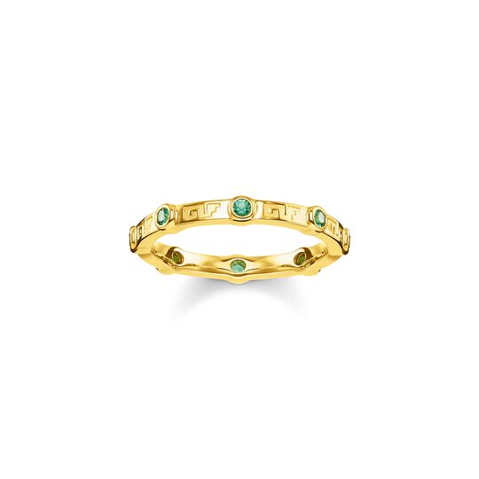 ring green stone from the  collection in the THOMAS SABO online store