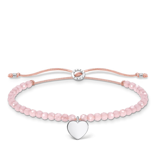 Bracelet pink pearls heart from the Charming Collection collection in the THOMAS SABO online store