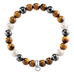 "Charm bracelet ""Brown, grey, white"" from the  collection in the THOMAS SABO online store"