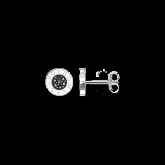 clous d'oreilles Classic pavé noir de la collection Glam & Soul dans la boutique en ligne de THOMAS SABO