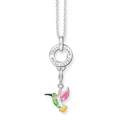 "Charm necklace ""colourful hummingbird"" from the  collection in the THOMAS SABO online store"