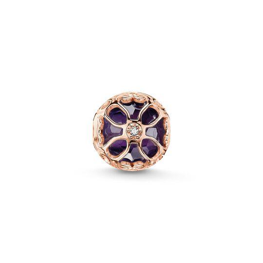 Bead fleur de lotus violette de la collection Karma Beads dans la boutique en ligne de THOMAS SABO