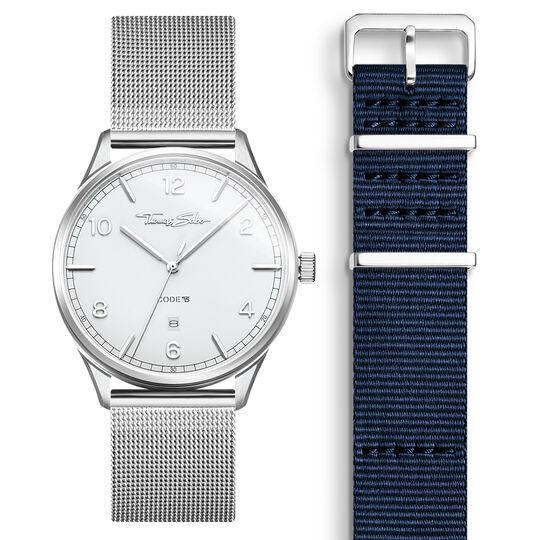 SET CODE TS montre blanche et bracelet bleu foncé de la collection  dans la boutique en ligne de THOMAS SABO