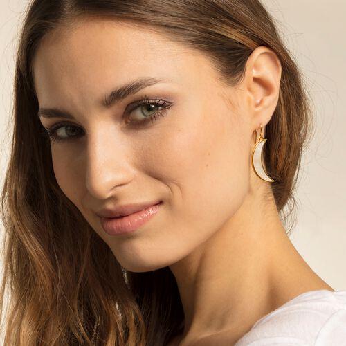 "fed6b2fbb earring ""Moon mother-of-pearl"" – H2017 – Women – THOMAS SABO"