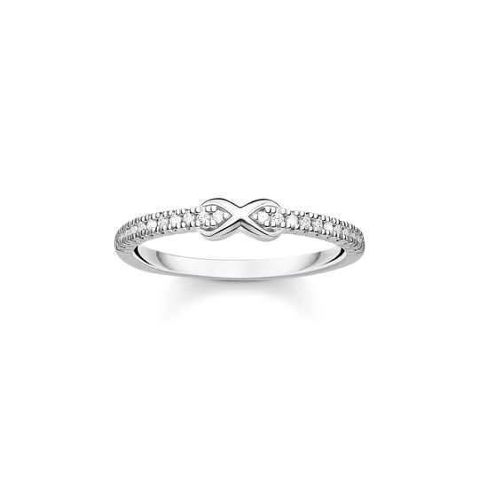 Ring infinity with white stones silver from the Charming Collection collection in the THOMAS SABO online store