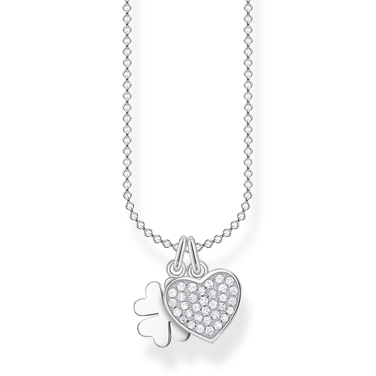Necklace cloverleaf with heart pavé from the Charming Collection collection in the THOMAS SABO online store