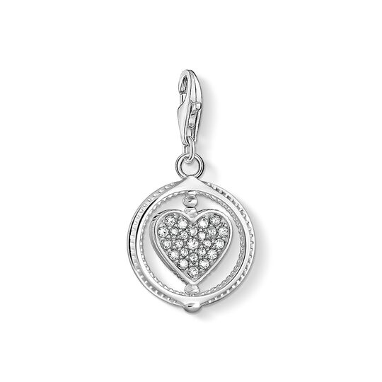 Charm pendant heart pavé silver from the Charm Club collection in the THOMAS SABO online store