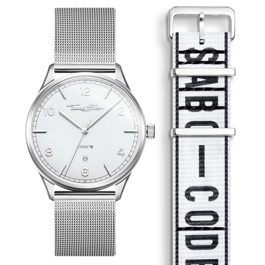 SET CODE TS white watch & white Urban bracelet from the  collection in the THOMAS SABO online store