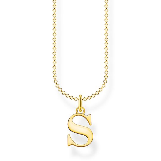 Necklace letter S gold from the Charming Collection collection in the THOMAS SABO online store