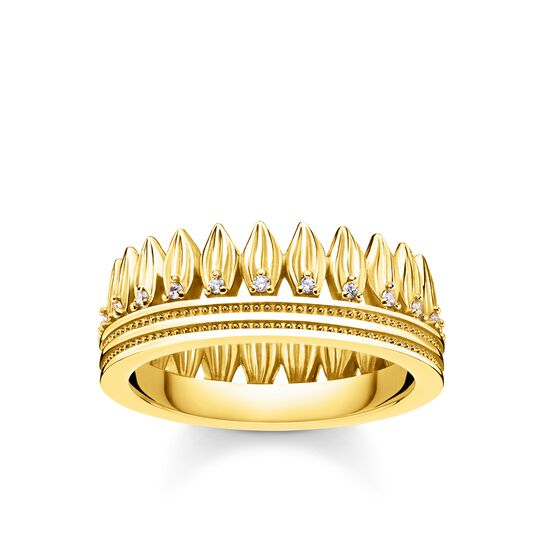 ring leaves crown gold from the Glam & Soul collection in the THOMAS SABO online store