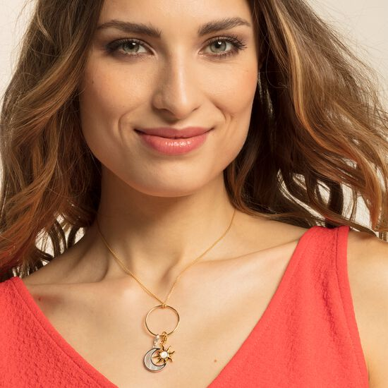 """Charm pendant """"Sun with mother-of-pearl stone"""" from the  collection in the THOMAS SABO online store"""