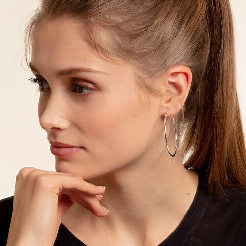 "hoop earrings ""classic medium"" from the Glam & Soul collection in the THOMAS SABO online store"