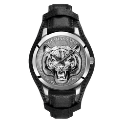 men's watch Rebel Tiger 3D black-silver from the Rebel at heart collection in the THOMAS SABO online store