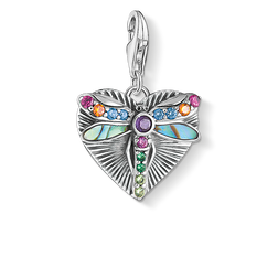 Charm pendant Heart dragonfly, silver from the Charm Club Collection collection in the THOMAS SABO online store