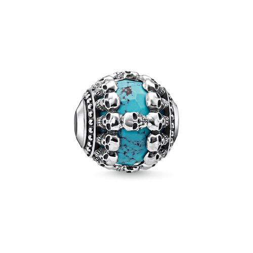 """Bead """"Skulls Turquoise"""" from the Karma Beads collection in the THOMAS SABO online store"""