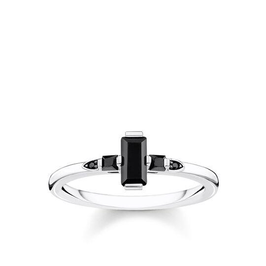 bague Pierre taille baguette noire de la collection Glam & Soul dans la boutique en ligne de THOMAS SABO