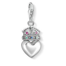 Charm-Anhänger Herz mit Krone aus der  Kollektion im Online Shop von THOMAS SABO
