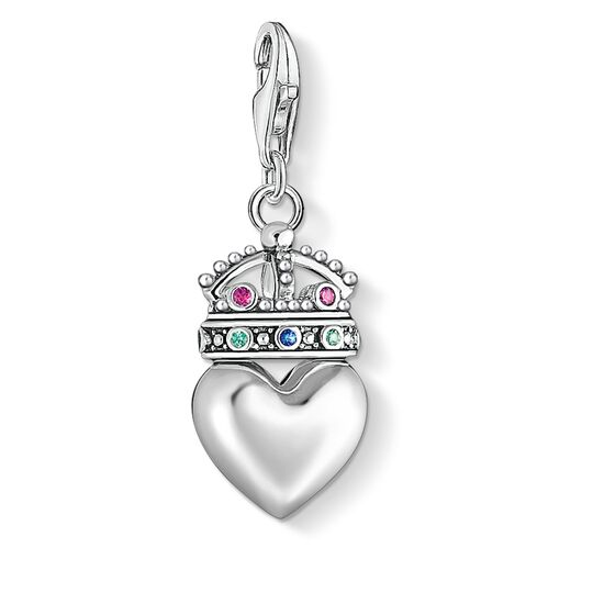Charm pendant Heart with crown from the  collection in the THOMAS SABO online store