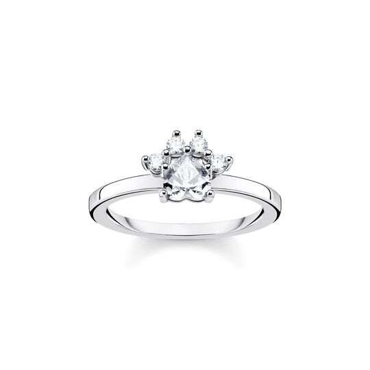 ring paw cat silver from the  collection in the THOMAS SABO online store