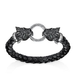 "leather strap ""Black Cat"" from the Rebel at heart collection in the THOMAS SABO online store"