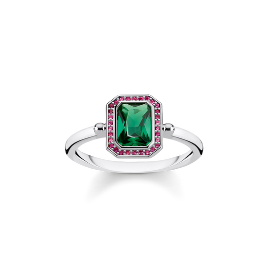 ring Red & green stones, silver from the Glam & Soul collection in the THOMAS SABO online store