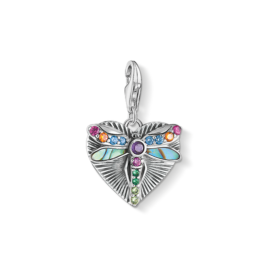 Charm pendant Heart with dragonfly, silver from the Charm Club collection in the THOMAS SABO online store