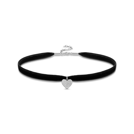 Choker Heart pavé from the  collection in the THOMAS SABO online store