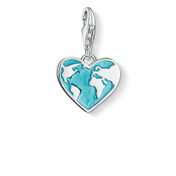 Charm pendant heart globe from the Charm Club Collection collection in the THOMAS SABO online store