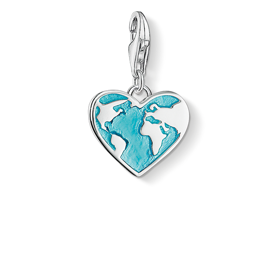 Charm pendant heart globe from the Charm Club collection in the THOMAS SABO online store