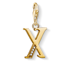 Charm pendant letter X gold from the Charm Club Collection collection in the THOMAS SABO online store