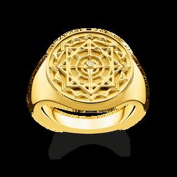 bague boussole vintage dorée de la collection Glam & Soul dans la boutique en ligne de THOMAS SABO