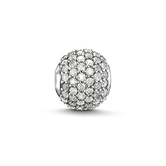 Bead white diamond pavé from the Karma Beads collection in the THOMAS SABO online store