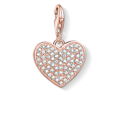 "ciondolo Charm ""cuore con pavé"" from the  collection in the THOMAS SABO online store"