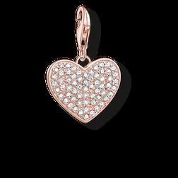 """pendentif Charm """"cœur avec pavé"""" de la collection  dans la boutique en ligne de THOMAS SABO"""