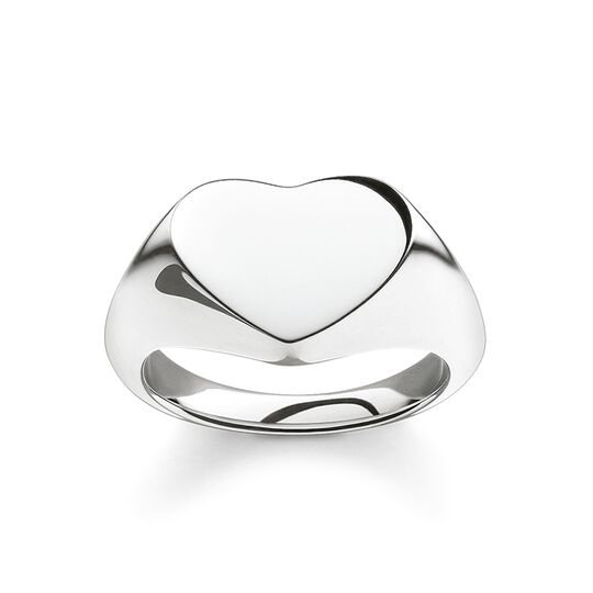 "signet ring ""heart"" from the Glam & Soul collection in the THOMAS SABO online store"
