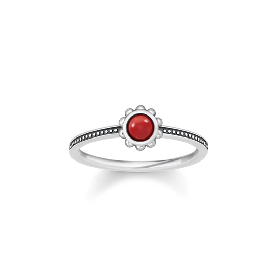 ring ethno red from the Glam & Soul collection in the THOMAS SABO online store