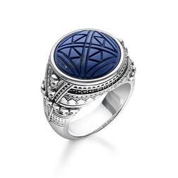 Ring Ethno Totenköpfe blau aus der Rebel at heart Kollektion im Online Shop von THOMAS SABO