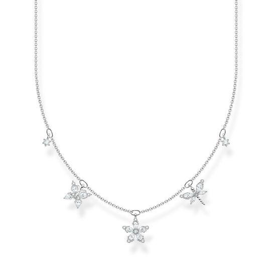 Chaîne fleurs pierres blanches de la collection Charming Collection dans la boutique en ligne de THOMAS SABO
