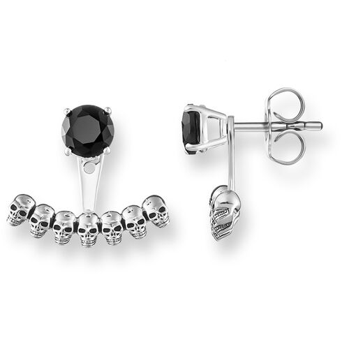 """ear studs """"Ear Jackets skull"""" from the Rebel at heart collection in the THOMAS SABO online store"""