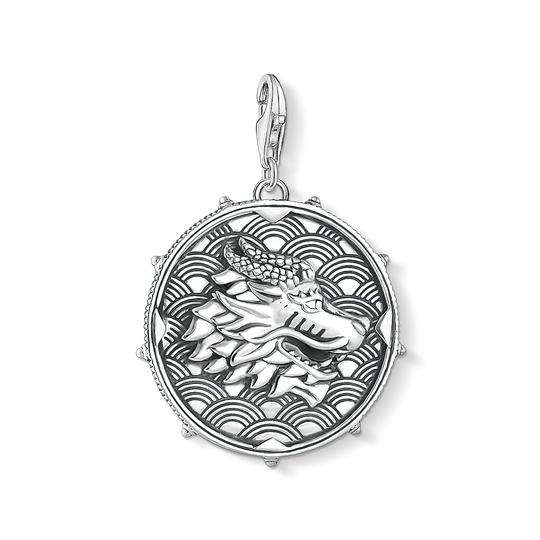 Charm pendant disc dragon from the Charm Club collection in the THOMAS SABO online store
