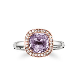 """solitaire ring """"purple"""" from the Glam & Soul collection in the THOMAS SABO online store"""