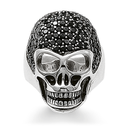 "ring ""skull pavé"" from the Rebel at heart collection in the THOMAS SABO online store"