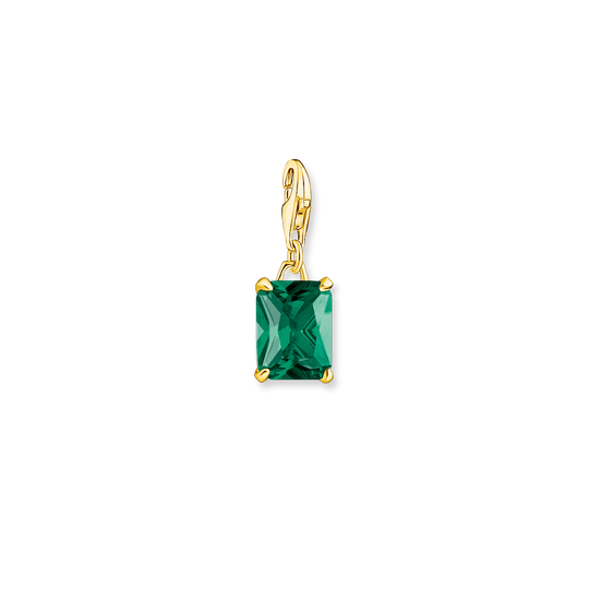 Charm pendant large green stone from the Glam & Soul collection in the THOMAS SABO online store