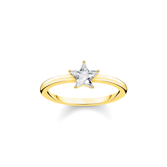 ring Sparkling star, gold from the Glam & Soul collection in the THOMAS SABO online store