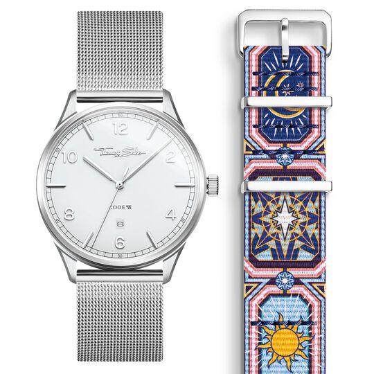 SET CODE TS vit klocka & armband natthimmel i färg ur kollektionen  i THOMAS SABO:s onlineshop