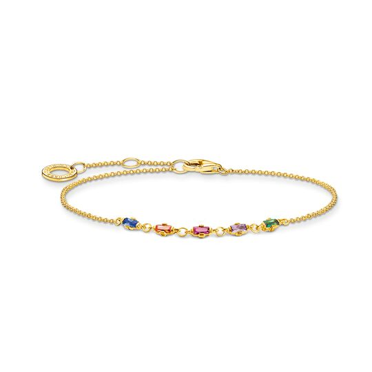 Bracelet colourful stones, gold from the Charming Collection collection in the THOMAS SABO online store