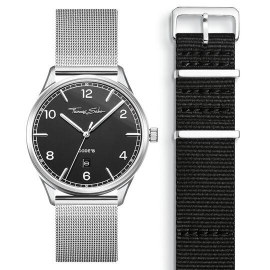 SET CODE TS Reloj negro & correa negra de la colección  en la tienda online de THOMAS SABO