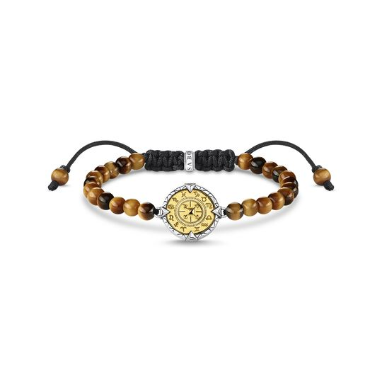 Bracelet elements of nature tiger's eye gold from the  collection in the THOMAS SABO online store