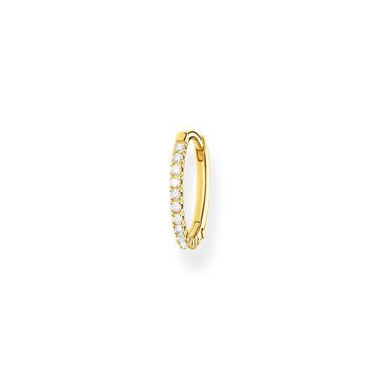 Single hoop earring white Stones gold from the Charming Collection collection in the THOMAS SABO online store